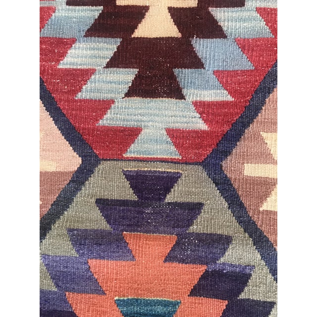 "Vintage Turkish Kilim -2'2"" 6'3"" For Sale In Raleigh - Image 6 of 11"