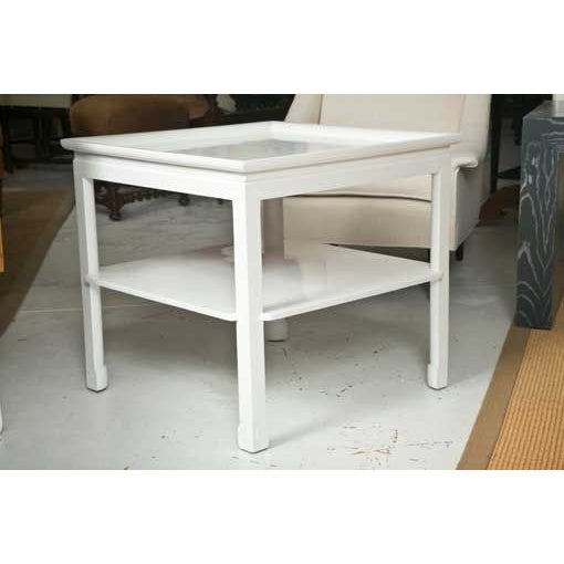 Mid-Century Table in White Lacquer - Image 2 of 7