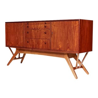 1960s Danish Angled Base Sideboard