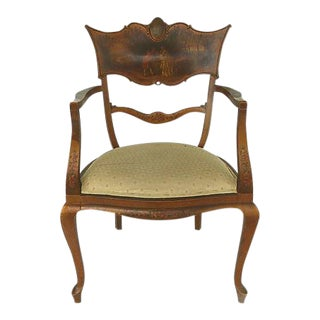 Antique Verne Martins Style Ladies Armchair For Sale