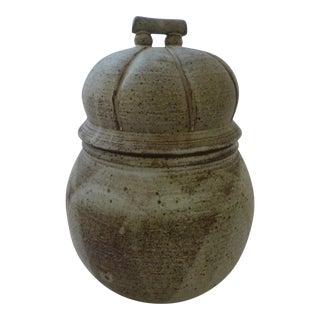 Organic Mid-Century Modern Lidded Jar For Sale