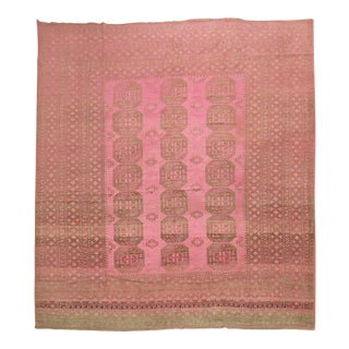 Wild Pink Vintage Tribal Rug, 10'10'' X 13'5'' For Sale