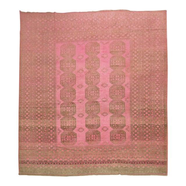 Wild Pink Vintage Tribal Rug, 10'10'' X 13'5'' For Sale
