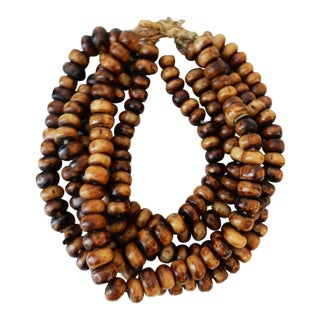 Jumbo Currency Bone Trade Beads - Set of 5 For Sale