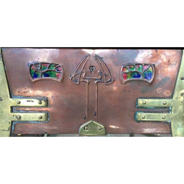 Gold Art Nouveau Copper Trinket Box Glasgow School For Sale - Image 8 of 11