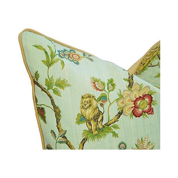 Italian Scalamandre Fleur Des Indes Pillows - Pair - Image 6 of 11
