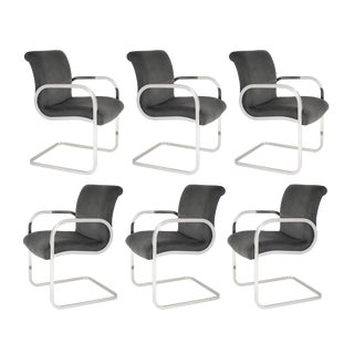 "Set of 6 ""Ghia"" Dining Chairs by Charles Gibilterra for Brueton, Circa 1970s"