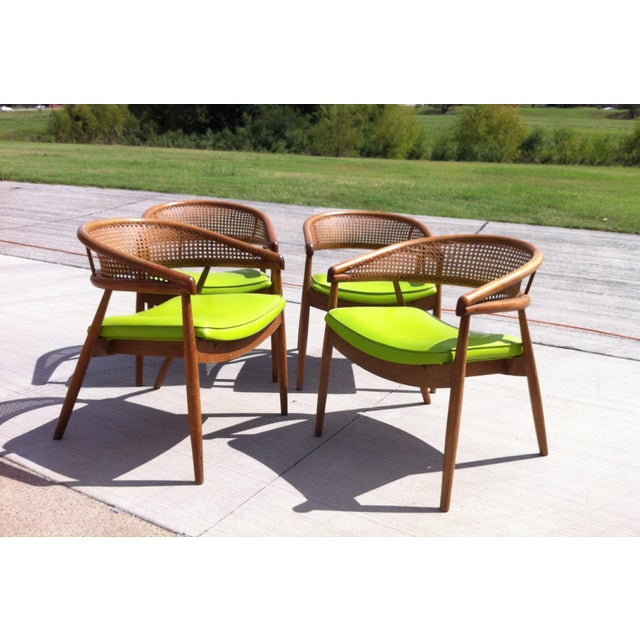 Thonet James Mont Bent Wood & Cane Armchairs - Set of 4 - Image 2 of 5