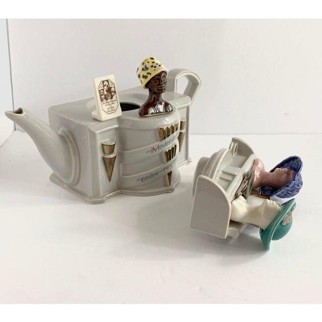 Vintage Richard Parrington Novelty Teapot Mode De Paris For Sale - Image 9 of 13