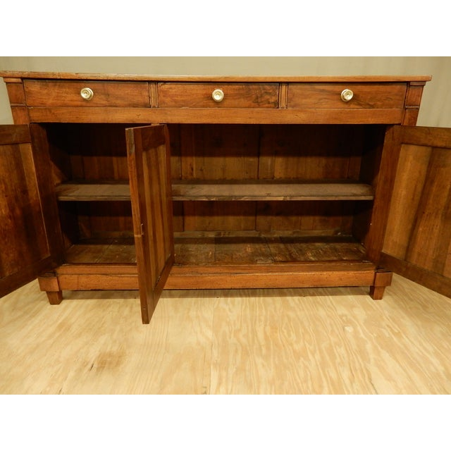 Early 19th C. Directoire' Walnut Enfilade For Sale In New Orleans - Image 6 of 10