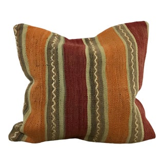 Turkish Tribal Decoration Hand Woven Throw Kilim Pillow Cover For Sale