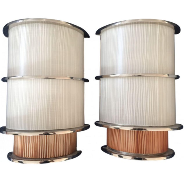 Wired Agg Sconces - A Pair For Sale - Image 4 of 4