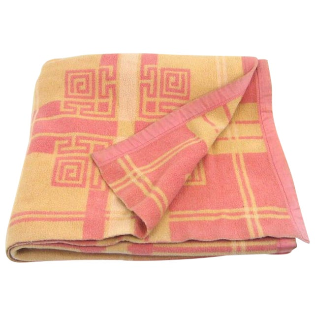 Vintage Pink & Orange Reversible Camp Blanket - Image 1 of 6