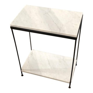 20th Century Contemporary Carrara Marble Side Table For Sale