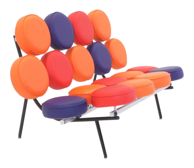 Limited Edition Multicolor George Nelson, Herman Miller Marshmallow Sofa  For Sale