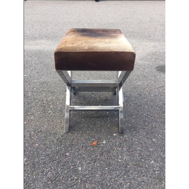 Shari Cowhide Small Bench - Image 2 of 3