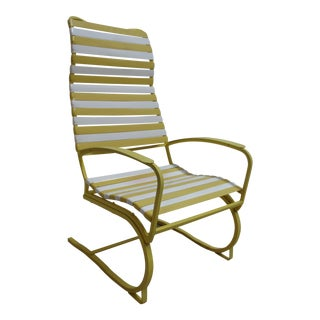 1970s Vintage Mid Century Patio Lounge Chair For Sale