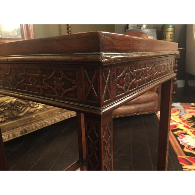 Wood 1820s Carved Mahogany Chippendale Style Side Table For Sale - Image 7 of 8