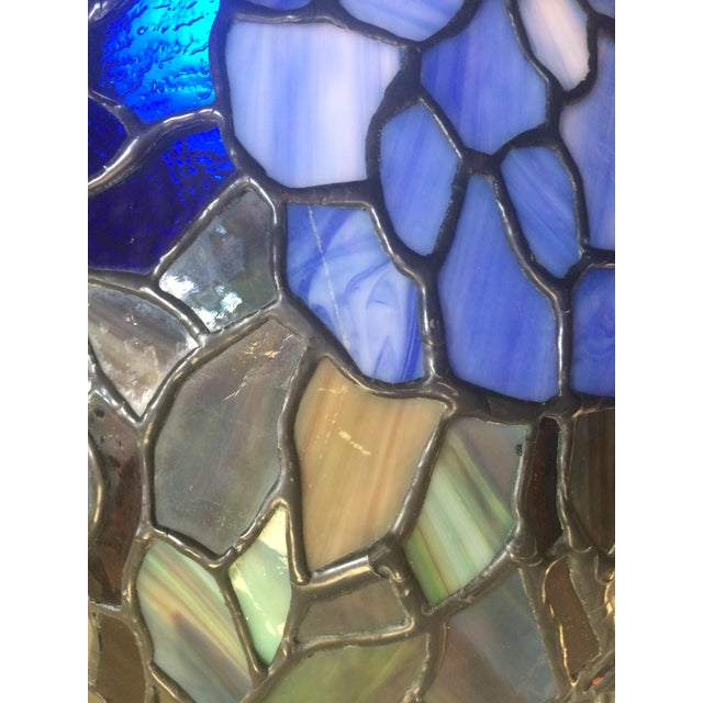 Somers Stained Glass Lamp For Sale - Image 7 of 10