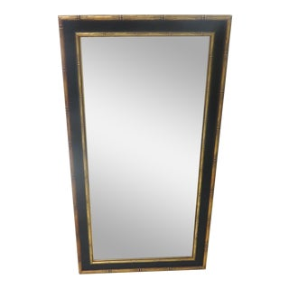 Black & Gold Faux Bamboo Mirror