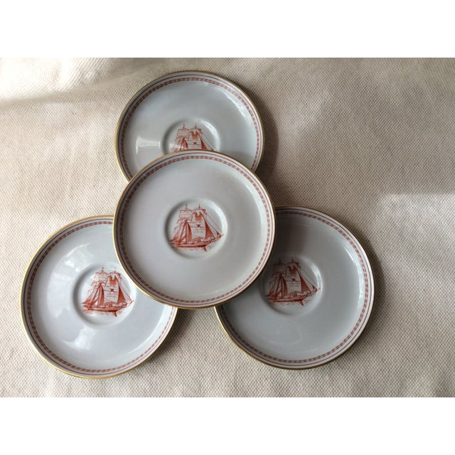 Spode TradeWinds Pattern Coffee Cups, Saucers and Plates - Set of 12 For Sale - Image 6 of 11