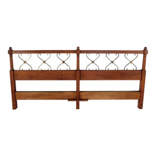 Kindel Hollywood Regency King Size Headboard For Sale