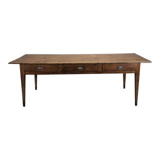 19th Century Country French Pine Desk ~ Dining Table
