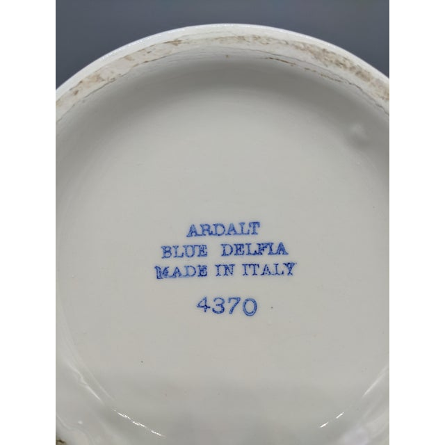 Ceramic Large 20th Century Italian Blue & White Ardalt Delphia Ginger Jar For Sale - Image 7 of 8