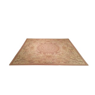 Aubusson Design Square Hand Tufted Loop Rug - 10x10 - Size Cat. 8x10 For Sale