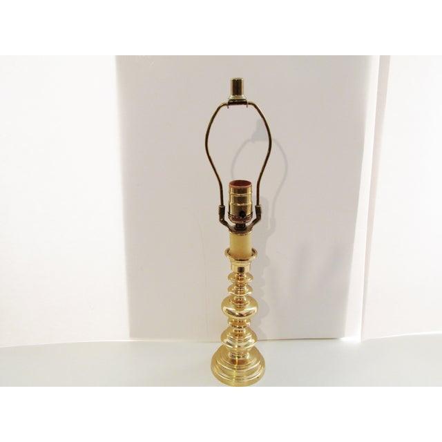 Vintage Berman Brass Candlestick Lamp - Image 4 of 7