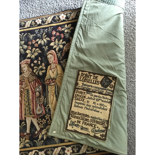 Vintage Point De Loiselles French Wall Tapestry - Image 4 of 7
