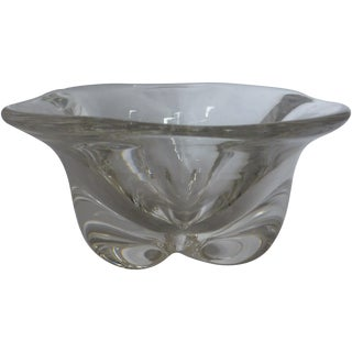 Vintage 1960s Swedish Orrefors Glass Bowl For Sale