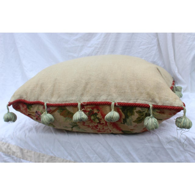 English Traditional Floral Down Pillow For Sale In San Diego - Image 6 of 10