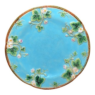 1873 George Jones Majolica Turquoise Plate