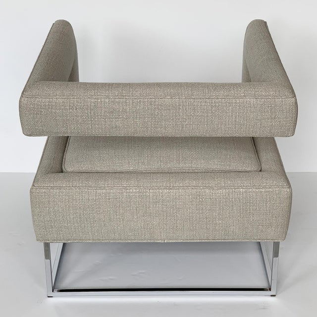 Milo Baughman Open Back Lounge Chairs - a Pair For Sale - Image 10 of 13