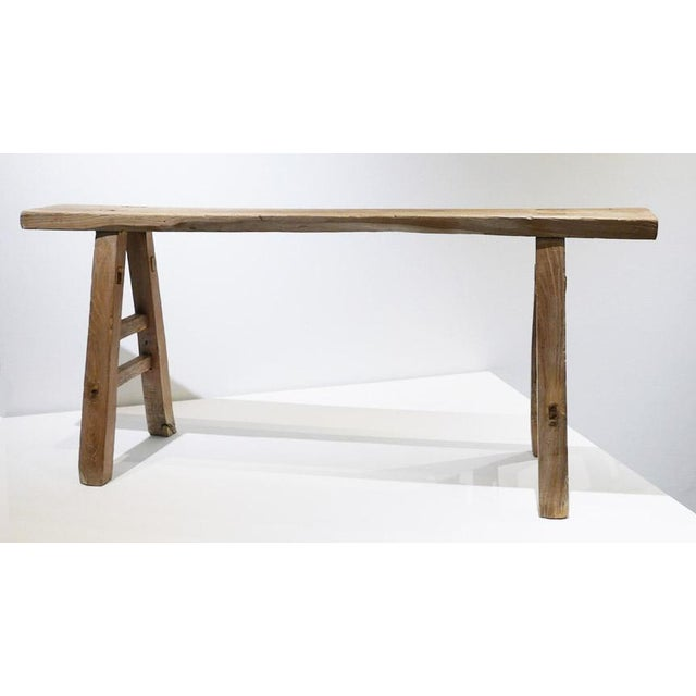 Rustic Skinny Rustic Bench For Sale - Image 3 of 6