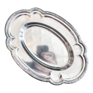1906 Silver Plated Serving Tray From Hotel Havlin in Cincinnati Oh For Sale