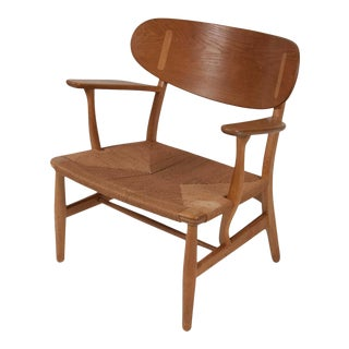 Hans Wegner Model CH22 Paddle Armchair For Sale