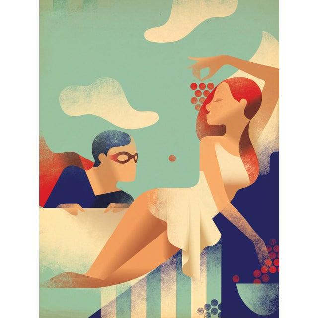 Modern Danish Poster, Superhero and woman - Image 2 of 3