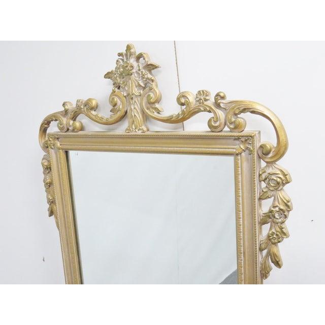 Rococo 20th Century Italian Rococo Style Wall Mirror For Sale - Image 3 of 4