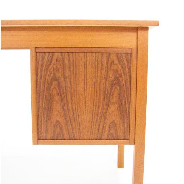 1960's Vintage Ejsing Møbelfabrik Teak Writing Desk For Sale - Image 4 of 11