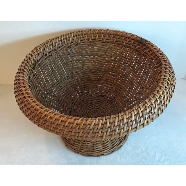 Mid-Century Modern Vintage Mid Century Natural Wicker Planter For Sale - Image 3 of 8