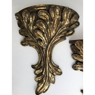 20th Century Rococo Carved Gilt Wood Wall Shelves - a Pair Preview