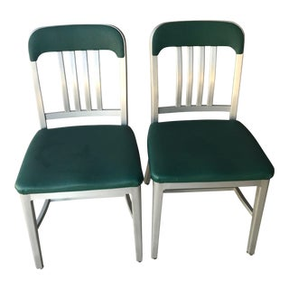 1960s Vintage Age Tanker Goodform Aluminum Office Chairs- A Pair For Sale