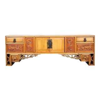 Antique 19th C. Chinese Elm Tabletop Cabinet With Secret Compartments For Sale