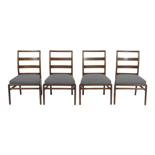1970s Vintage T.H. Robsjohn-Gibbings Ladder Back Dining Chairs- Set of 4 For Sale