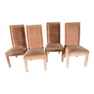 Vintage Salmon Dining Chairs - Set of 4