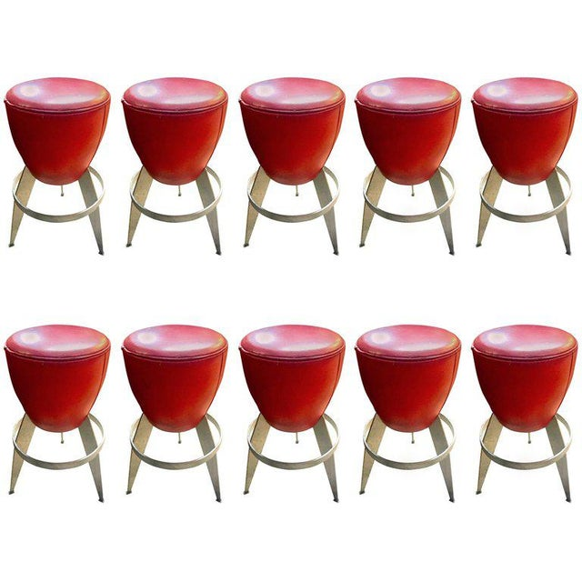 Mid-Century Modern Ten Swedeish Stools by Johanson Design For Sale - Image 3 of 3