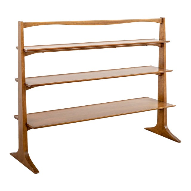 Edward Wormley Floating Pyramid Bookcase For Sale