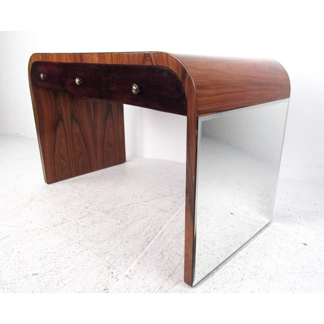 Italian Modern Writing Desk in Rosewood For Sale - Image 4 of 10